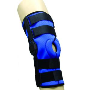 Semi open knee support with patella