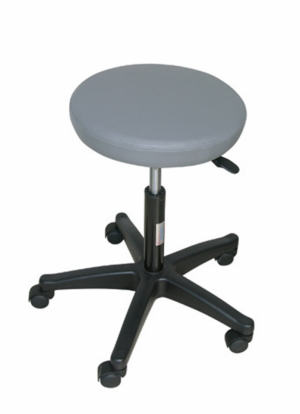 ADJUSTABLE STOOL 5 WHEEL FEET NYLON - GRAY (H SEAT 3.5 CM)