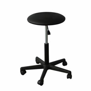ADJUSTABLE STOOL 5 WHEELS FEET NYLON - BLACK (H SEAT 3.5 CM)