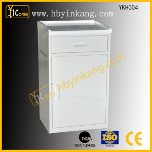 ABS Top Powder Coated Steel Bedside Cabinet