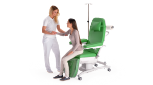 SENSA Flex - Therapy chair for oncological day-care hospitals, infusion and transfusion medicine and general medical practices