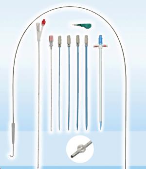 Nephrostomy Drainage Set with 100% Silicone Integral Catheter