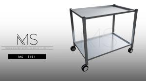 Trolley entirely in stainless steel 304 - 75 mm | Medical stainless steel cart | Products
