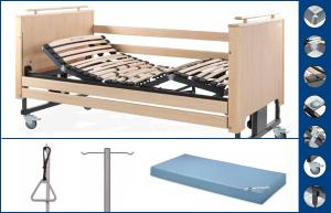Nature electric articulated bed, with vertical elevation - Tecnimoem