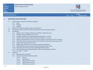 Equipment Specifications, BOQs, Equipment & Room Schedules, and Cost Estimates | UHS, Hospital Designers, Medical Equipment Planners<