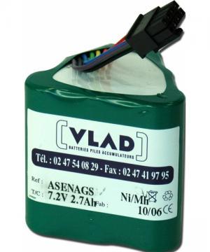 Battery 7,2V 2,7Ah for syringe pump Asena Gs-Gh ALARIS (IVAC) - Vlad