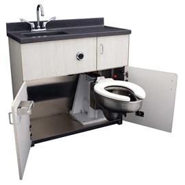 Patient Care Units | Back Waste Outlet, Free-Standing Cabinet, Lavatory, Pivoting Toilet - Whitehall Manufacturing