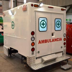 SANITARY MEDICAL CABIN made of glass-fiber (GFRP), extra resistant material, with 100% BioGelCoat treatment of Nanoparticles of Coopers with biocide action.