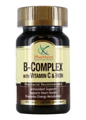 B Complex with C & Iron – PHARMAXXI، Vitamins, Dietary Supplements & Health Products
