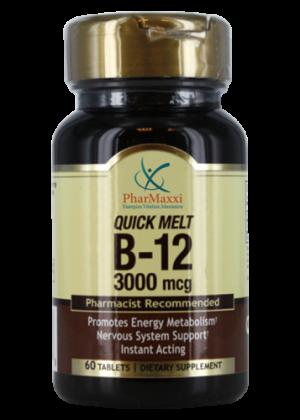 B-12 3000 mcg. – PHARMAXXI، Vitamins, Dietary Supplements & Health Products