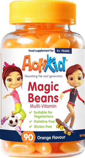 ActiKid Magic Beans Multi-Vitamin Orange flavour