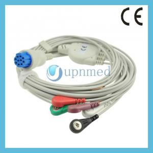 Datex Cardiocap 5 five lead ECG Cable with leadwires, 10pins