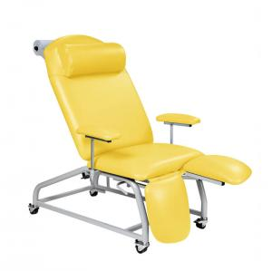 Fixed Height Reclining Treatment Chair - 4 Locking Castors [SUN-TREA2]