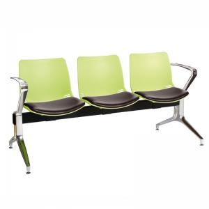Neptune Visitor 3 Seat Module with 3 Black Vinyl Upholstered Seat Pads [Sun-SEAT73/3/VYL/BLACK]