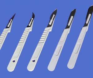 Scalpel + blade. Sterile. - Box 10 uni, Esteriplas