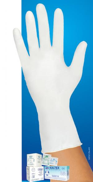 'KALTEX' Sterile & Non - Sterile Powdered Examination Latex Gloves (240mm)–( Singles)
