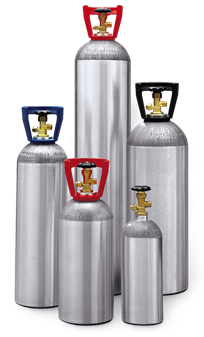 High Pressure Aluminum Gas Cylinders | Composite Cylinders - Beverage Aluminum Cylinders | Composite Cylinders | Impact Extrusions