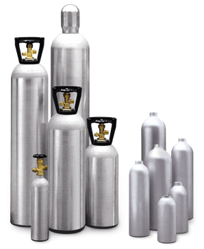High Pressure Aluminum Gas Cylinders | Composite Cylinders - Specialty/Industrial Gas Aluminum Cylinders | Composite Cylinders | Impact Extrusions