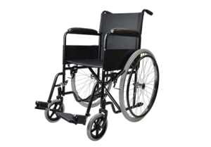 Steel manual wheelchair with MAG wheel