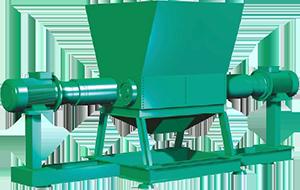 medical waste shredders double dual shaft high torque heavy duty high efficiency