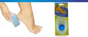 Silicone Heel with Blue Dot