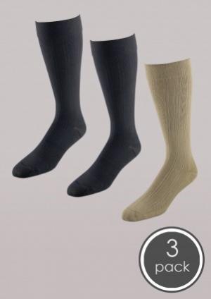 Essentials for Men - Mild Support Trouser Socks 3 Pack - Men's | Compression Support Hose