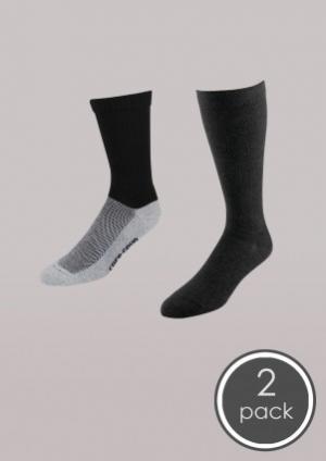Everyday Favorites - Core-Spun Light Crew & Knee High Socks 2 Pack - Women's | Compression Support Hose