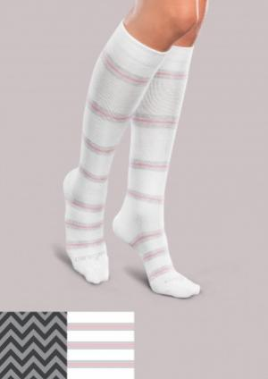 Light Support Socks - Patterned Core Spun - Women's | Compression Support Hose
