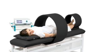 MAG-Expert with coil (Ø 60 cm) and therapy couch