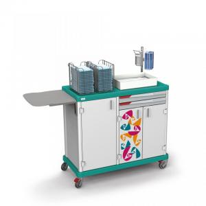 Essential Dual trolley for patient hygiene and laundry change by Francehopital