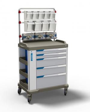 The PRESTO large - a multipurpose trolley with overbridge for healthcare by Francehopital