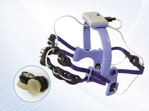 8-channel EEG-headset with AgCl electrodes with solid-gel parts