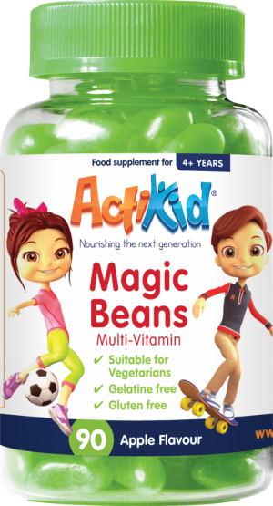 ActiKid Magic Beans Multi-Vitamin Apple flavour 90s