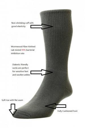 wormwood fiber antibacterial diabetic socks