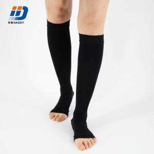 Anti Varicose Stocking -Knee high -black-open toe