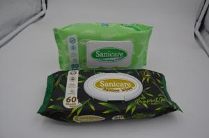 Qmed Bamboo Wipes Natural Biodegradable, 60ct,80ct