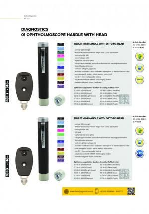 otoscope and opthalmoscope