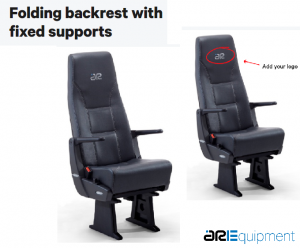 ARE Chair with foldable backrest with fixed support