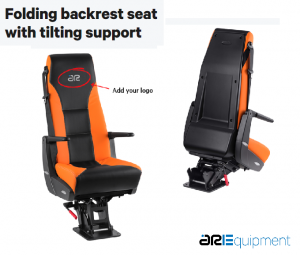ARE Chair with foldable backrest with inclinable support