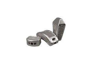 Titanium implants for spinal interbody fusion