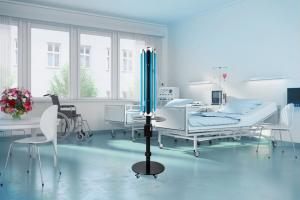UV-Mobil in patient room against super bugs