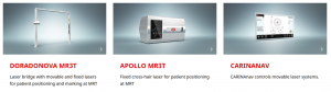 Products for patient positioning at MRI