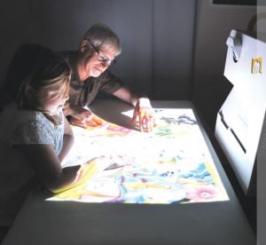Mobile Interactive Floor Projection
