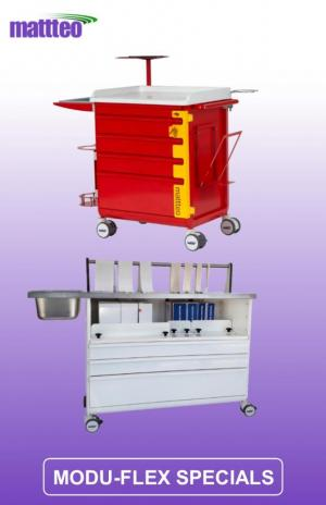 MODU-FLEX carts/trolleys for specific use