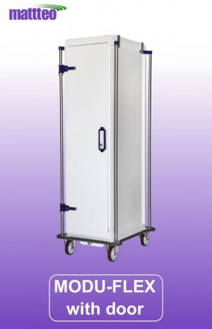 MODU-FLEX 1 section ISO modular transport trolley with door and code lock