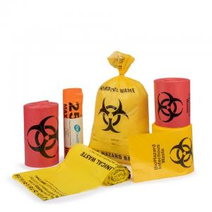 Autocalve biohazard bag in roll