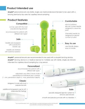 DROPLET® PERSONAL LANCETS