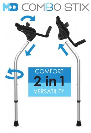 Two-in-One platform and forearm crutch