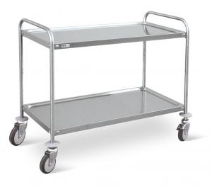 Service trolley with 2 fixed shelves