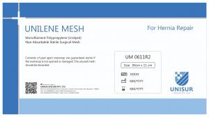 UNILENE MESH - Monofilament Polypropylene Mesh For Hernia Repair